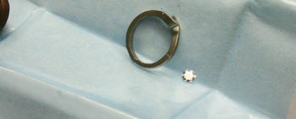 The shank of an engagement ring - sometimes called a blank
