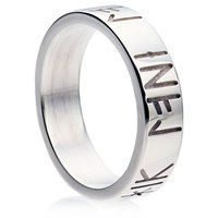Runic engraved wedding ring