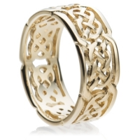 Yellow gold Celtic wedding ring