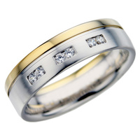 Ladies diamond wedding ring from a matching set of wedding rings