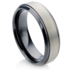A black zirconium ring